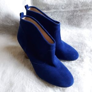 REPORT BLUE SUEDE MARKS BOOTIES